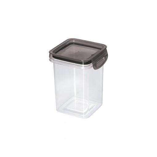 Porta Mantimento Trava Mais Quadrado Cristal - 830 Ml