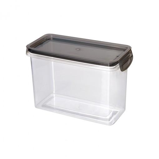 Porta Mantimento Trava Mais Retangular Cristal - 1,9 L