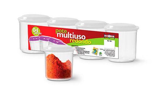 Pote Multiuso Redondo com 4