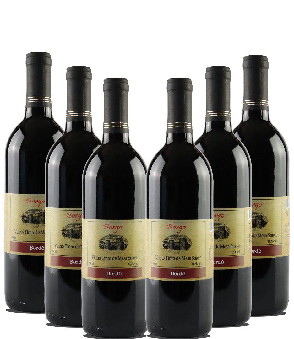 Combo Vinho Tinto Suave - 6 Garrafas