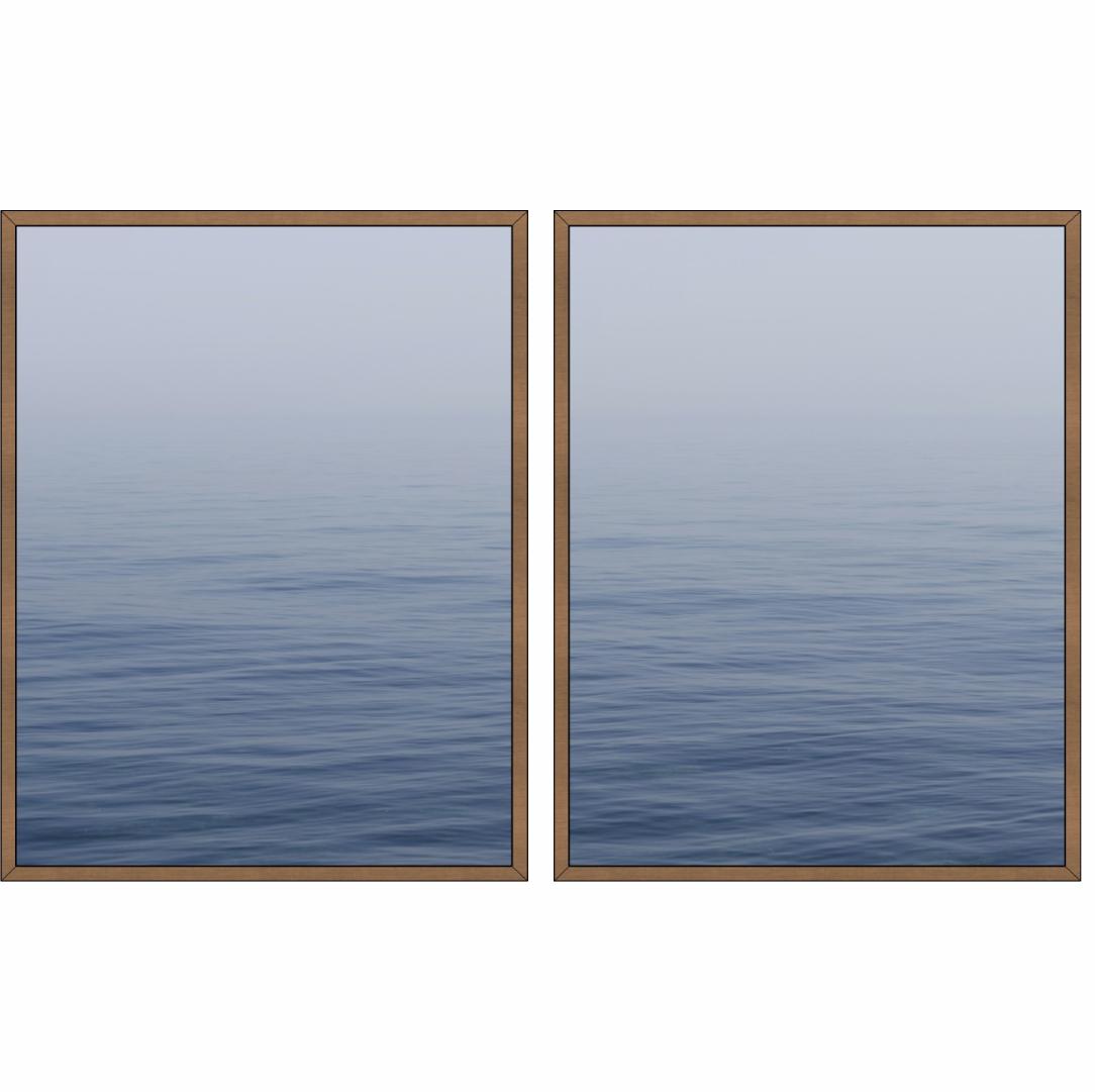 Composição com 2 Quadros Decorativos de Mar