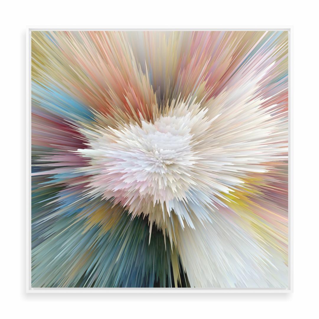 Quadro Decorativo Abstrato com Efeito Profundidade