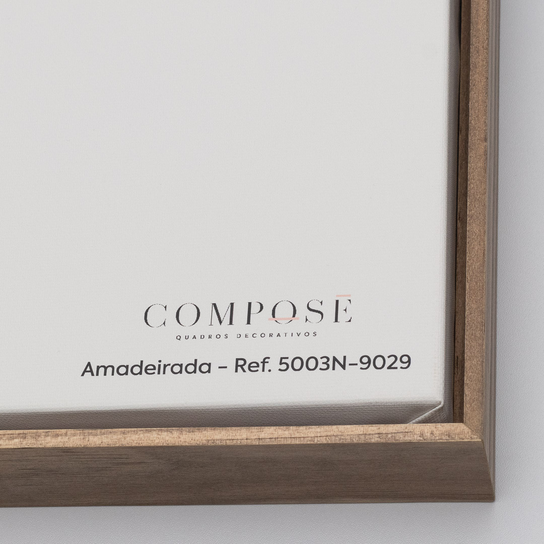 Quadro Decorativo Abstrato Marmorizado Preto e Dourado