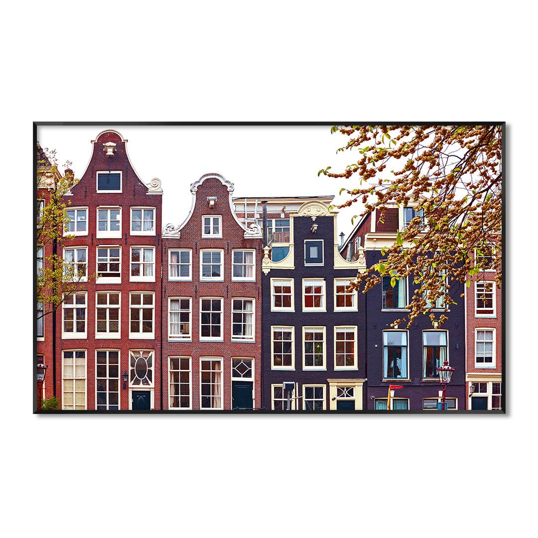 Quadro Decorativo com Fotografia Arquitetônica de Amsterdam