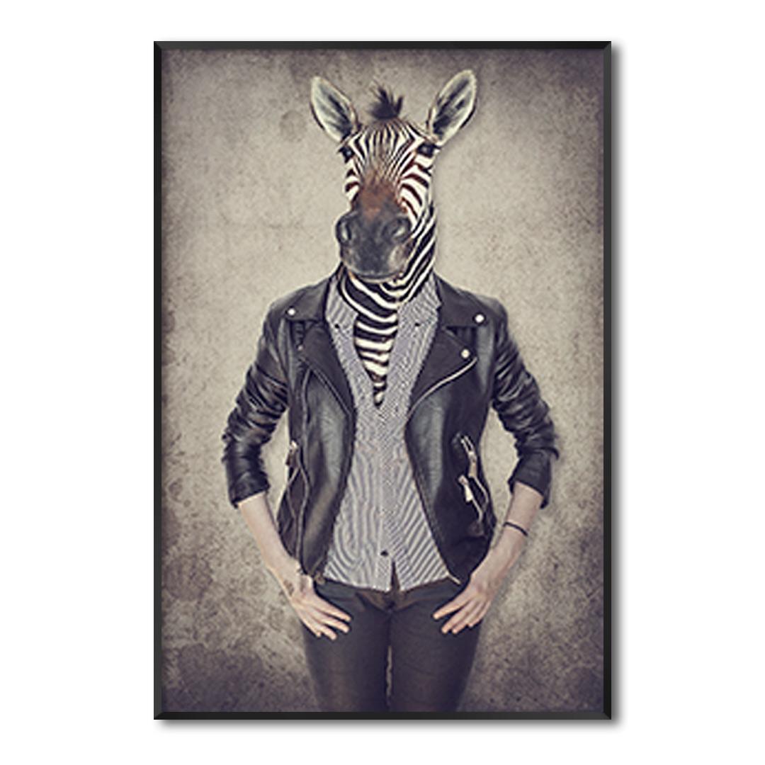 Quadro Decorativo Zebra Artística