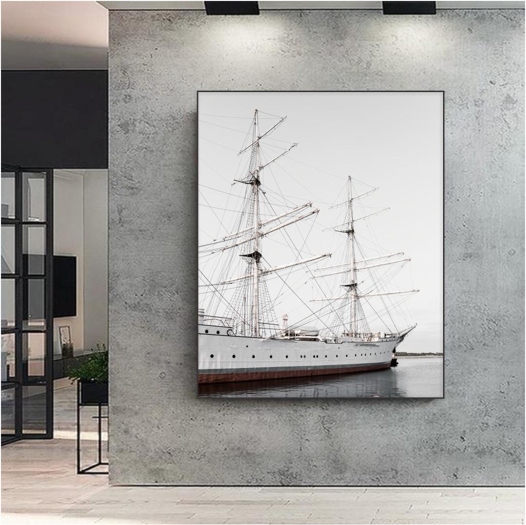 Quadro Decorativo Barco Veleiro no Mar
