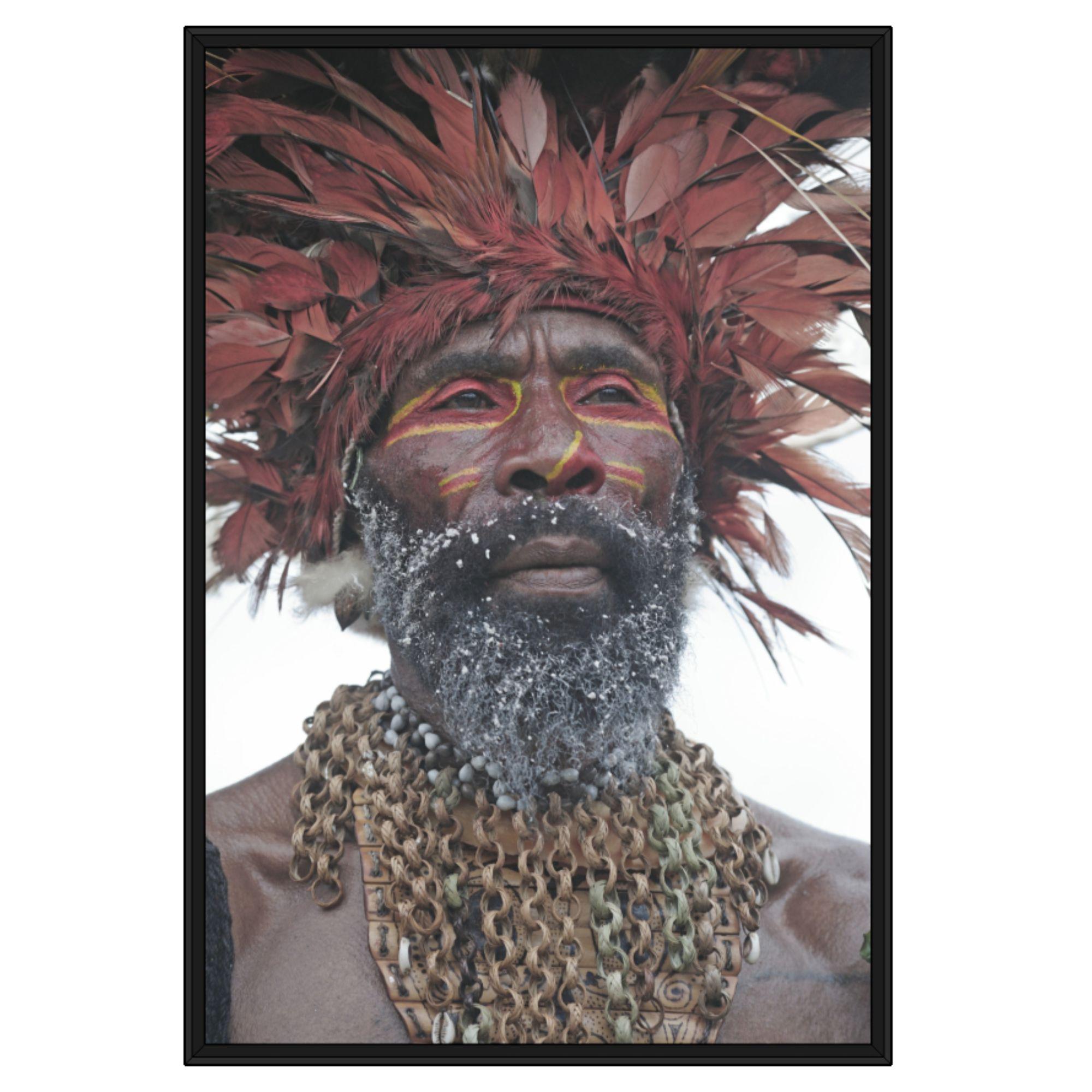 Quadro Decorativo com Fotografia de Índio