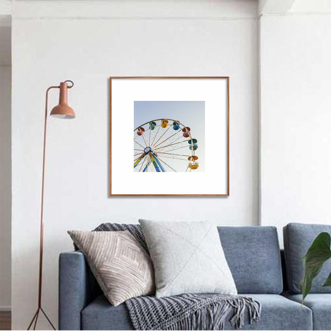 Quadro Decorativo com Fotografia de Roda Gigante