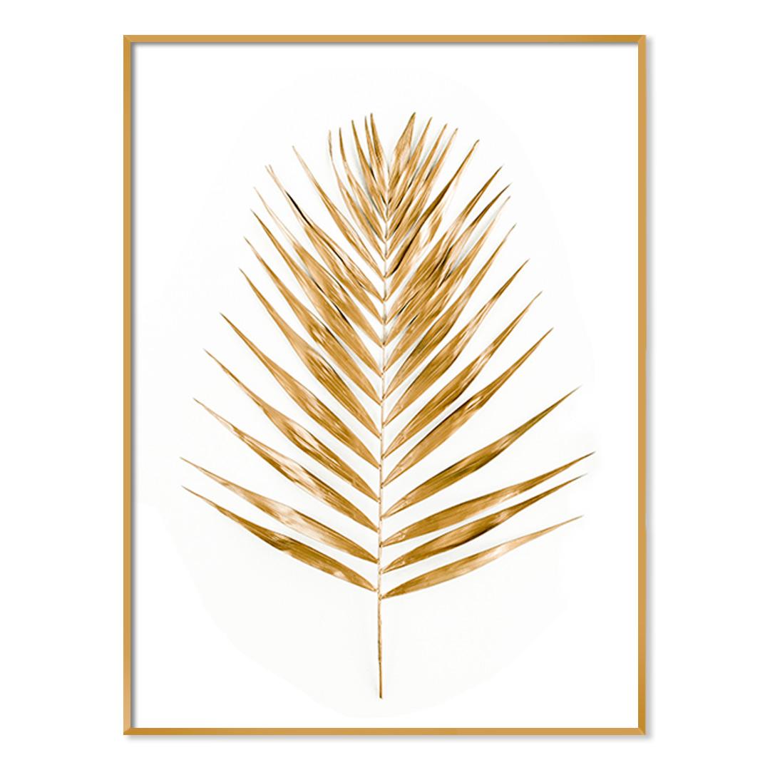Quadro Decorativo com Folha Dourada