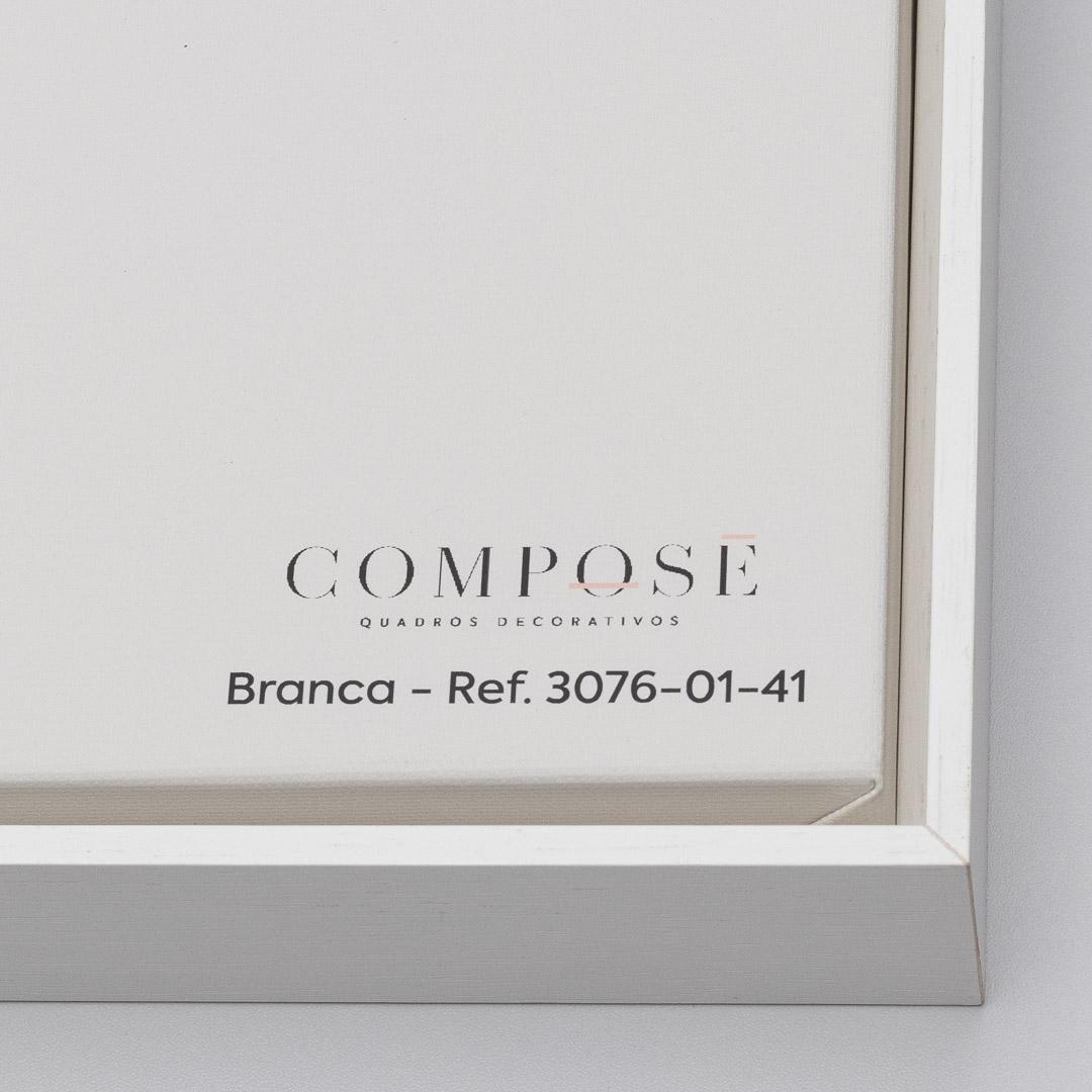 Quadro Decorativo com Pintura Abstrata em Tons de Cinza e Marrom