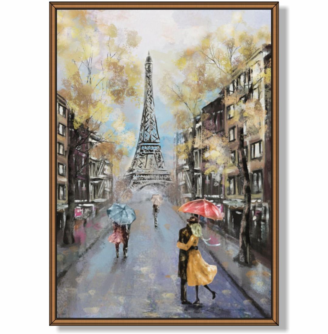 Quadro Decorativo com Pintura em Paris