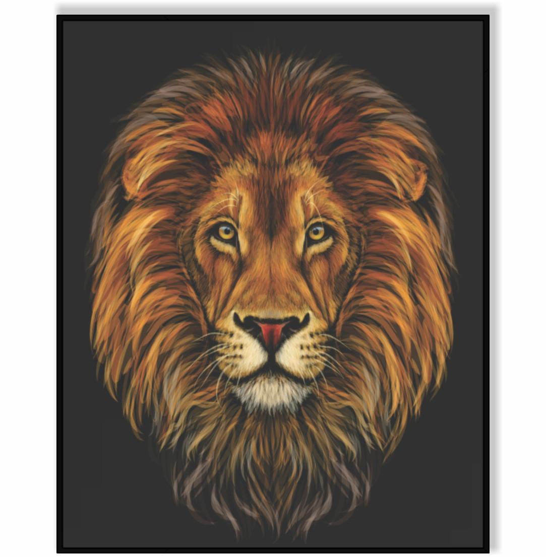Quadro Decorativo Desenho de Leão