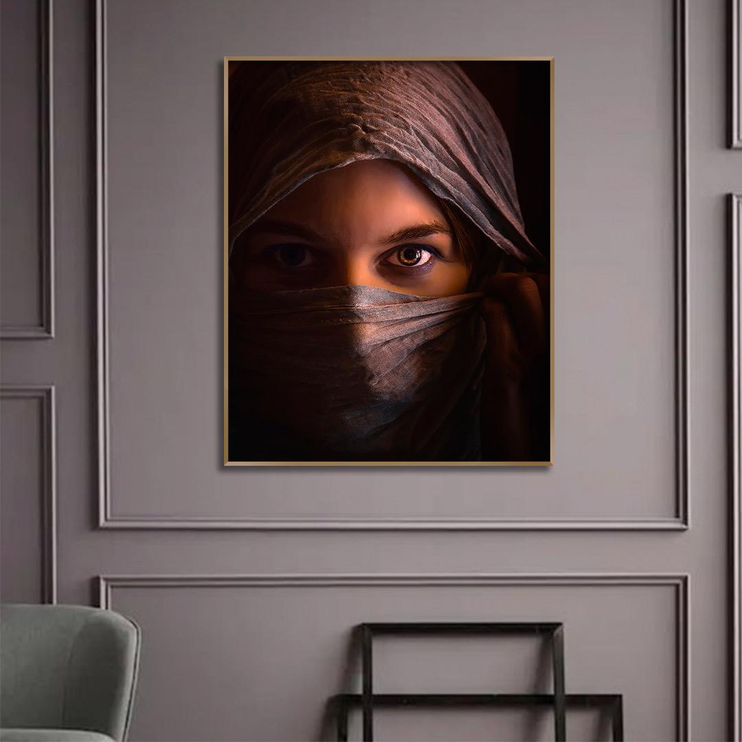 Quadro Decorativo com Fotografia Artística de Mulher