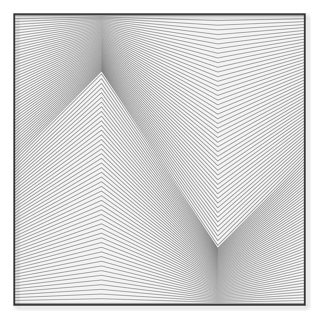 Quadro Decorativo Geométrico com Linhas Retas
