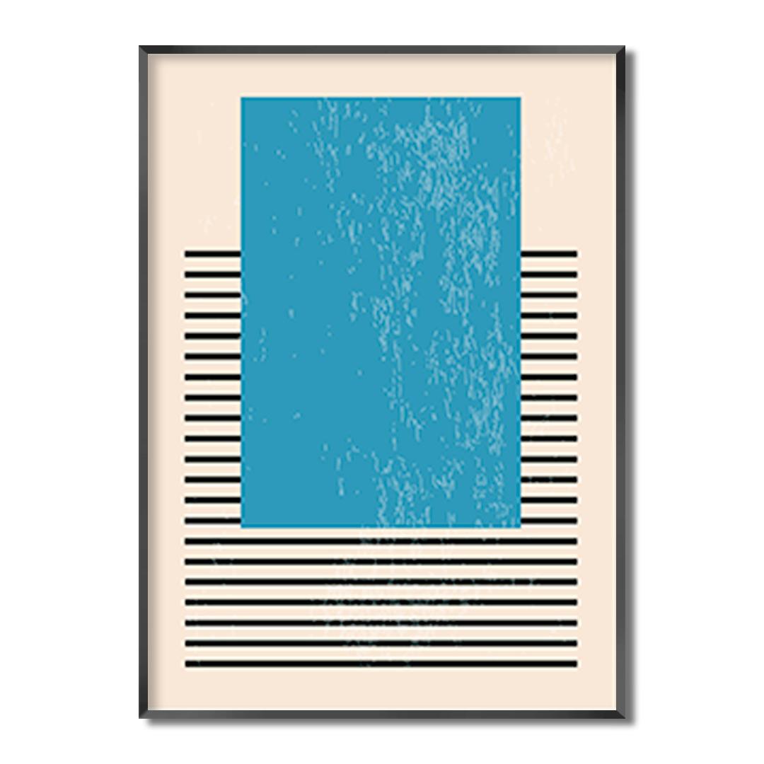 Quadro Decorativo Geométrico Minimalista Azul