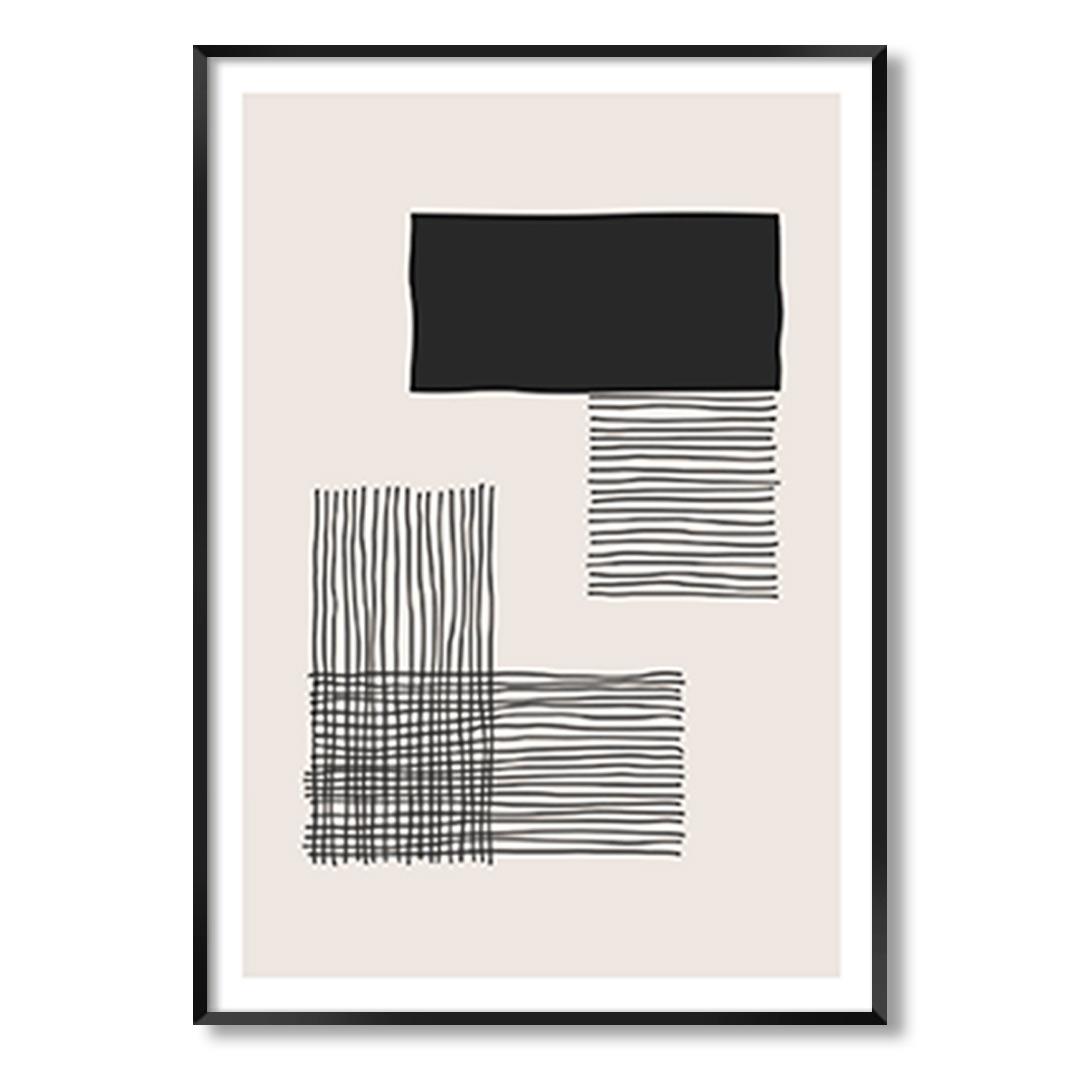 Quadro Decorativo Geométrico Minimalista