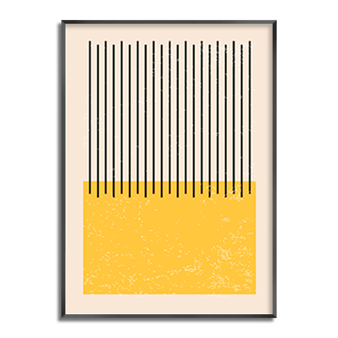 Quadro Decorativo Geométrico Minimalista Amarelo