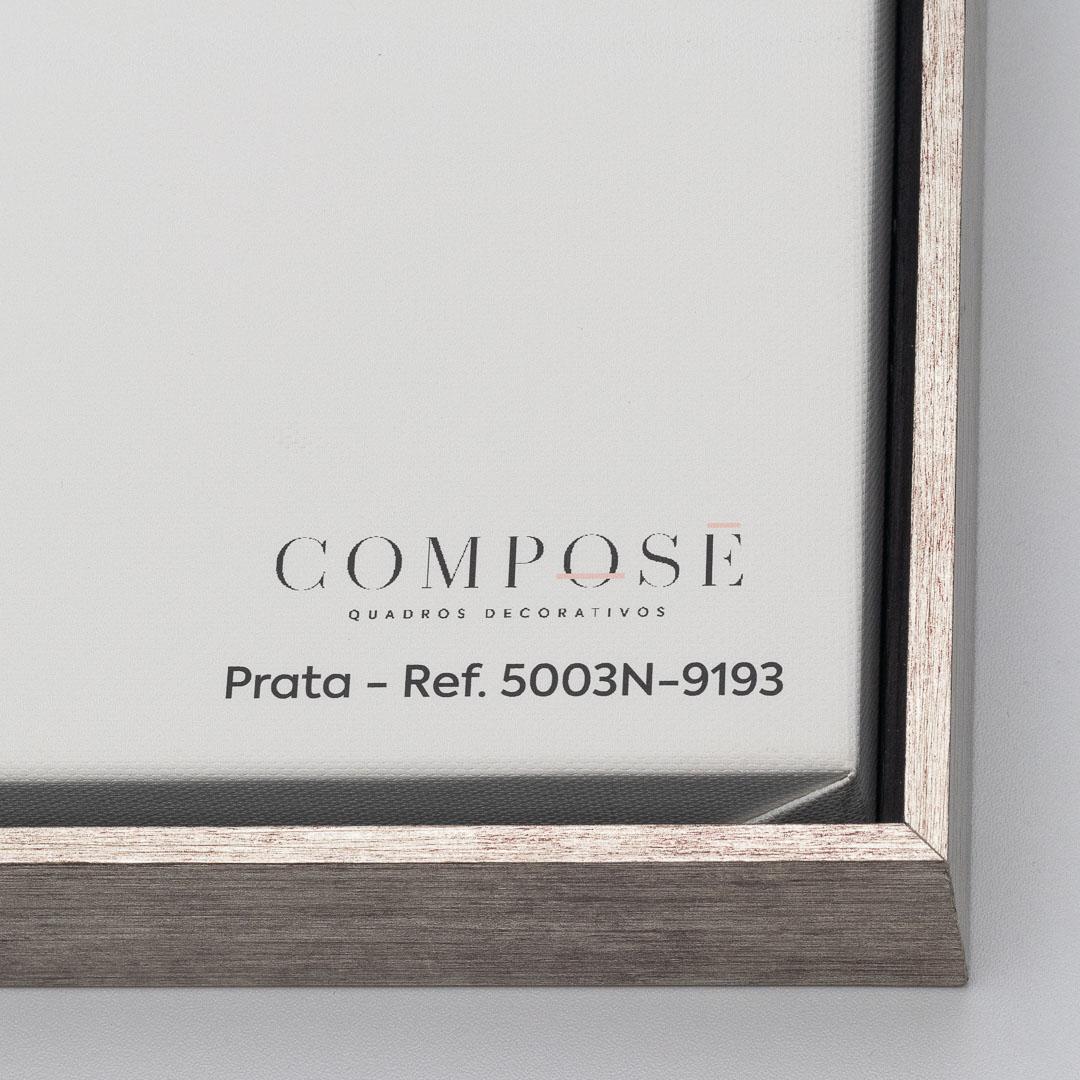 Quadro Decorativo Geométrico Minimalista Laranja