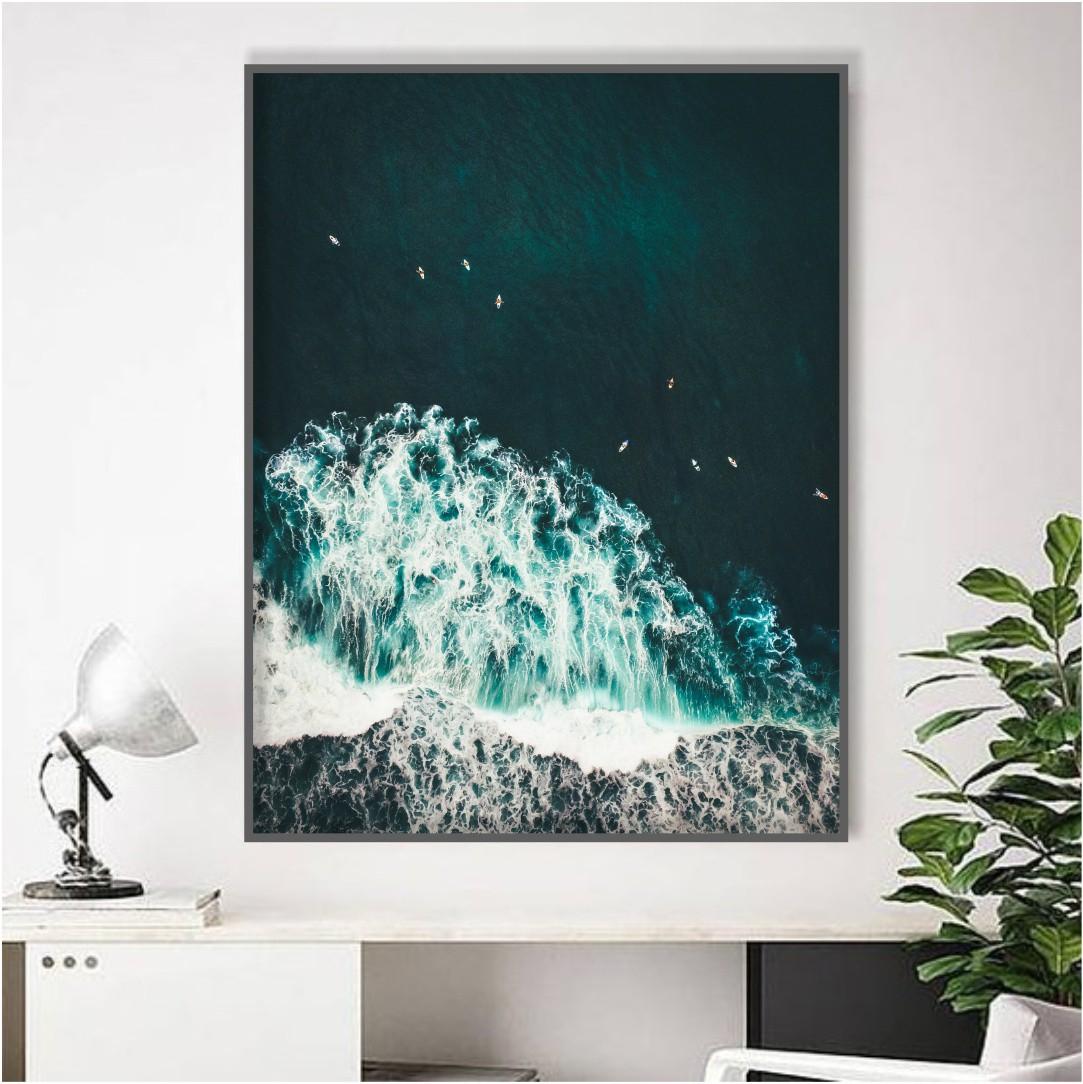 Quadro Decorativo Mar Verde