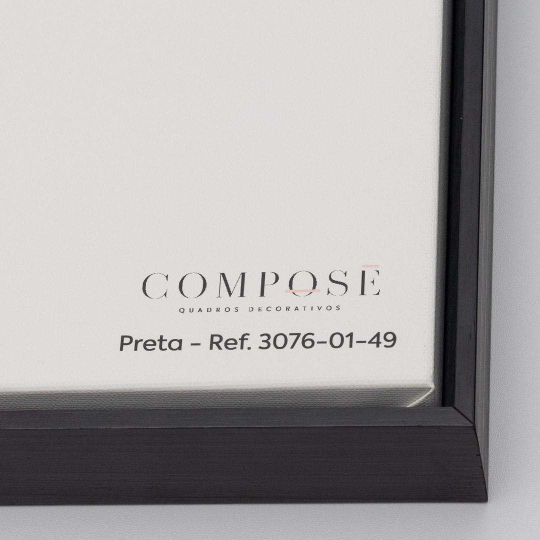 Quadro Decorativo Modelo Preto e Branco
