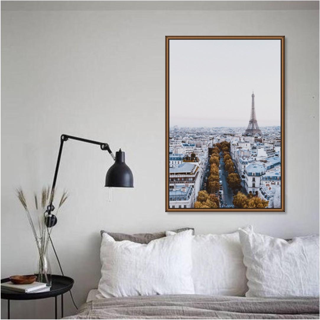 Quadro Decorativo Paisagem de Paris com Torre Eiffel