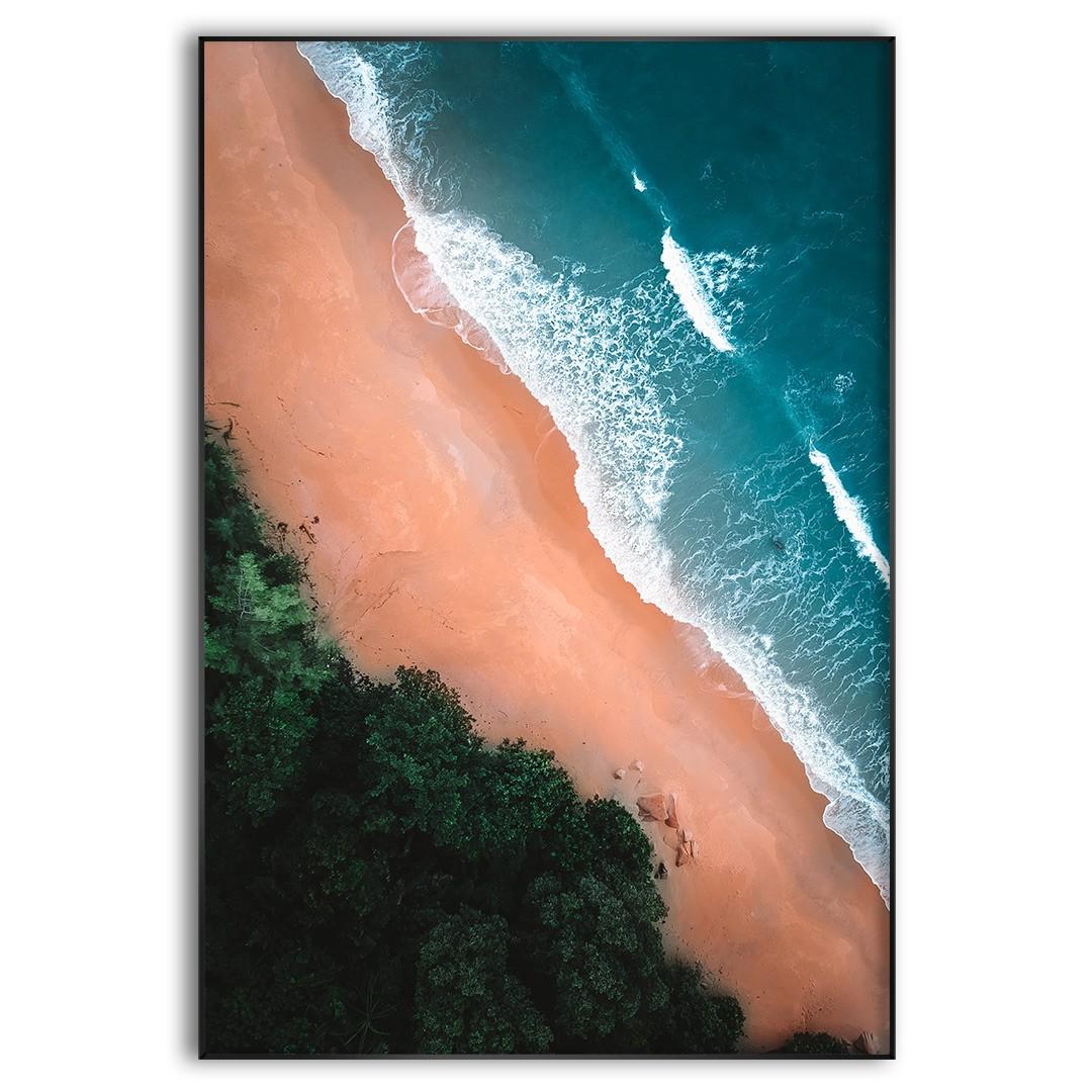 Quadro Decorativo Paisagem com Praia e Mar