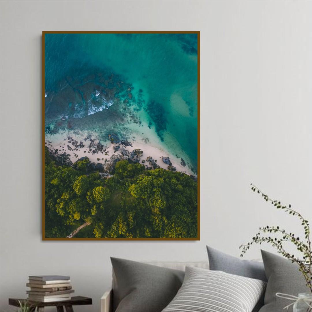 Quadro Decorativo Paisagem de Praia e Mar