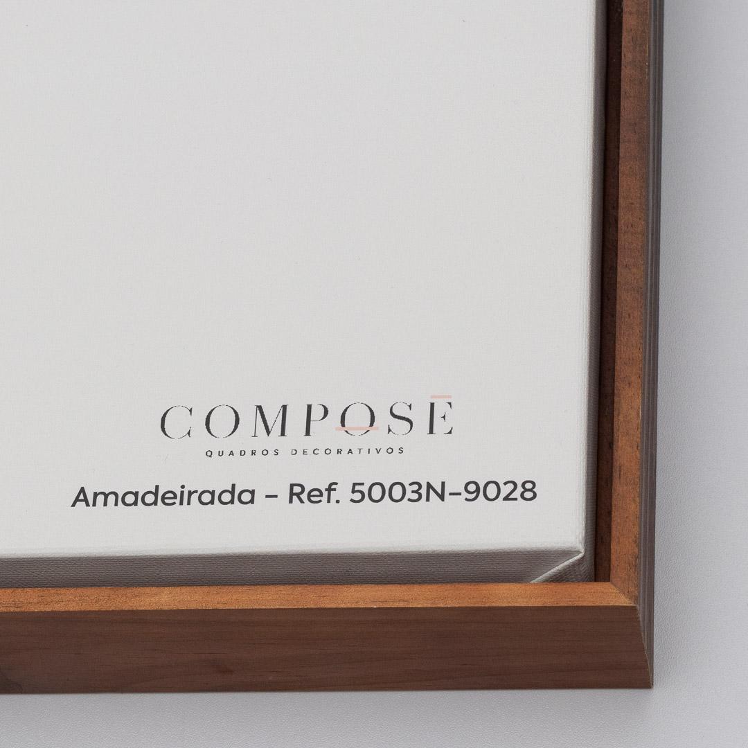 Quadro Decorativo Pintura Abstrata em Preto e Branco