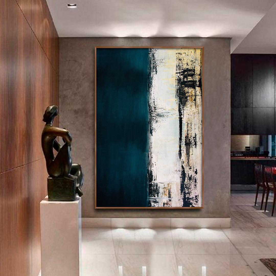 Quadro Decorativo Pintura Abstrata Verde