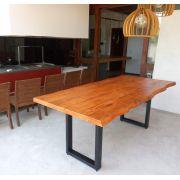 Mesa de prancha de madeira Peroba 1.40 metros