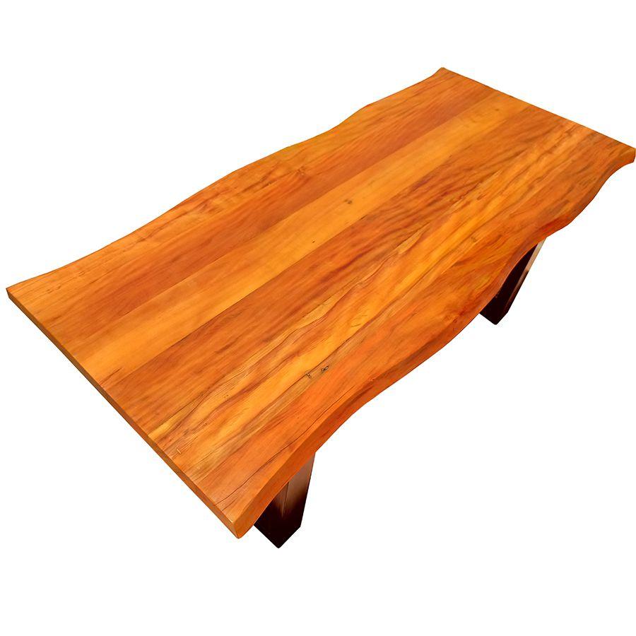 Mesa de prancha de madeira Peroba 1.60 metros  - Marcenaria De Demolição
