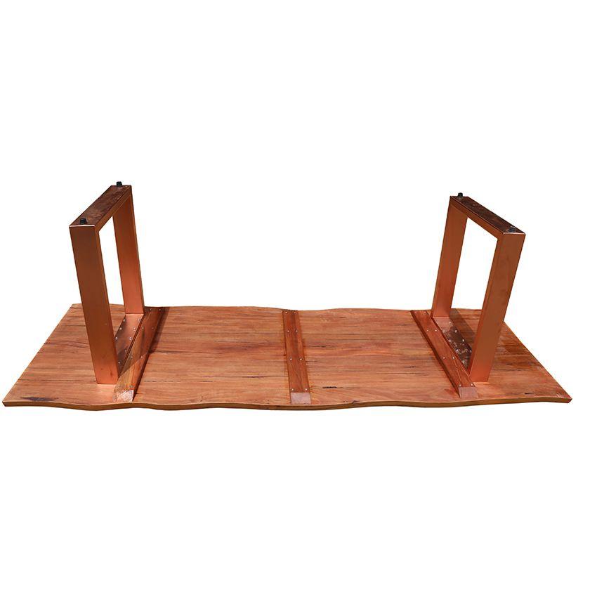Mesa de prancha de madeira 1.40 metros  - Marcenaria De Demolição