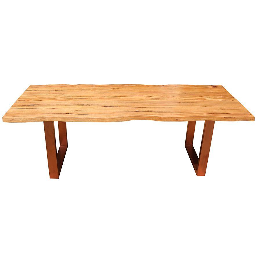 Mesa de prancha de madeira 3.00 metros  - Marcenaria De Demolição