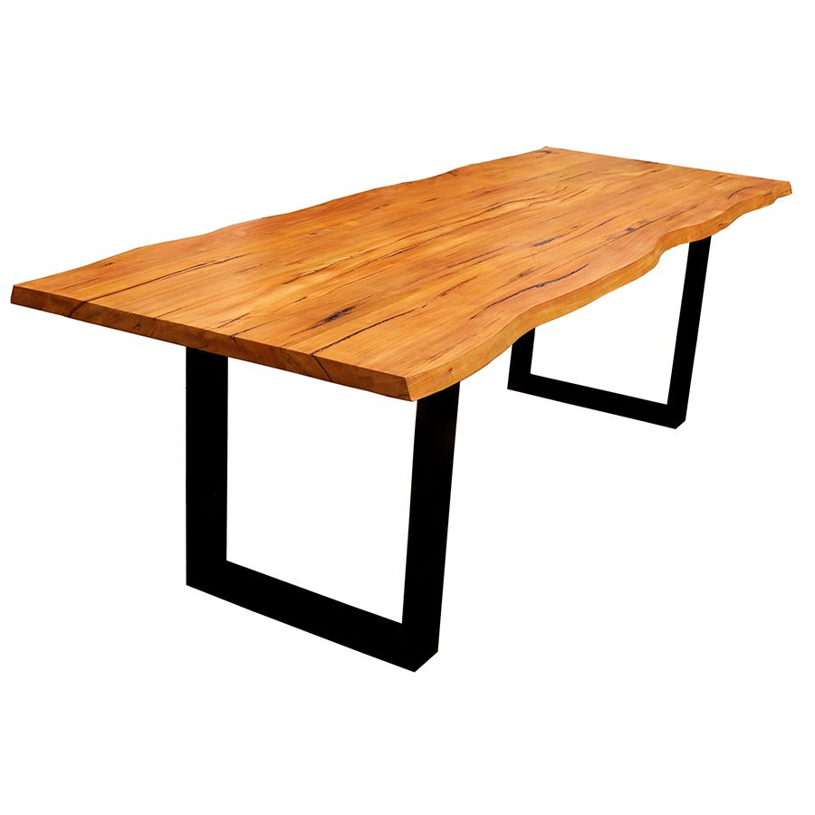 Mesa de prancha de madeira 2.00 metros  - Marcenaria De Demolição
