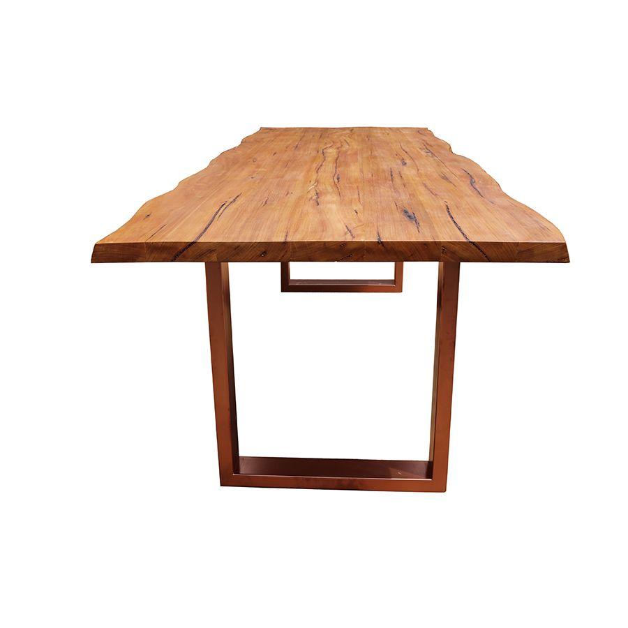 Mesa de prancha de madeira 2.50 metros  - Marcenaria De Demolição