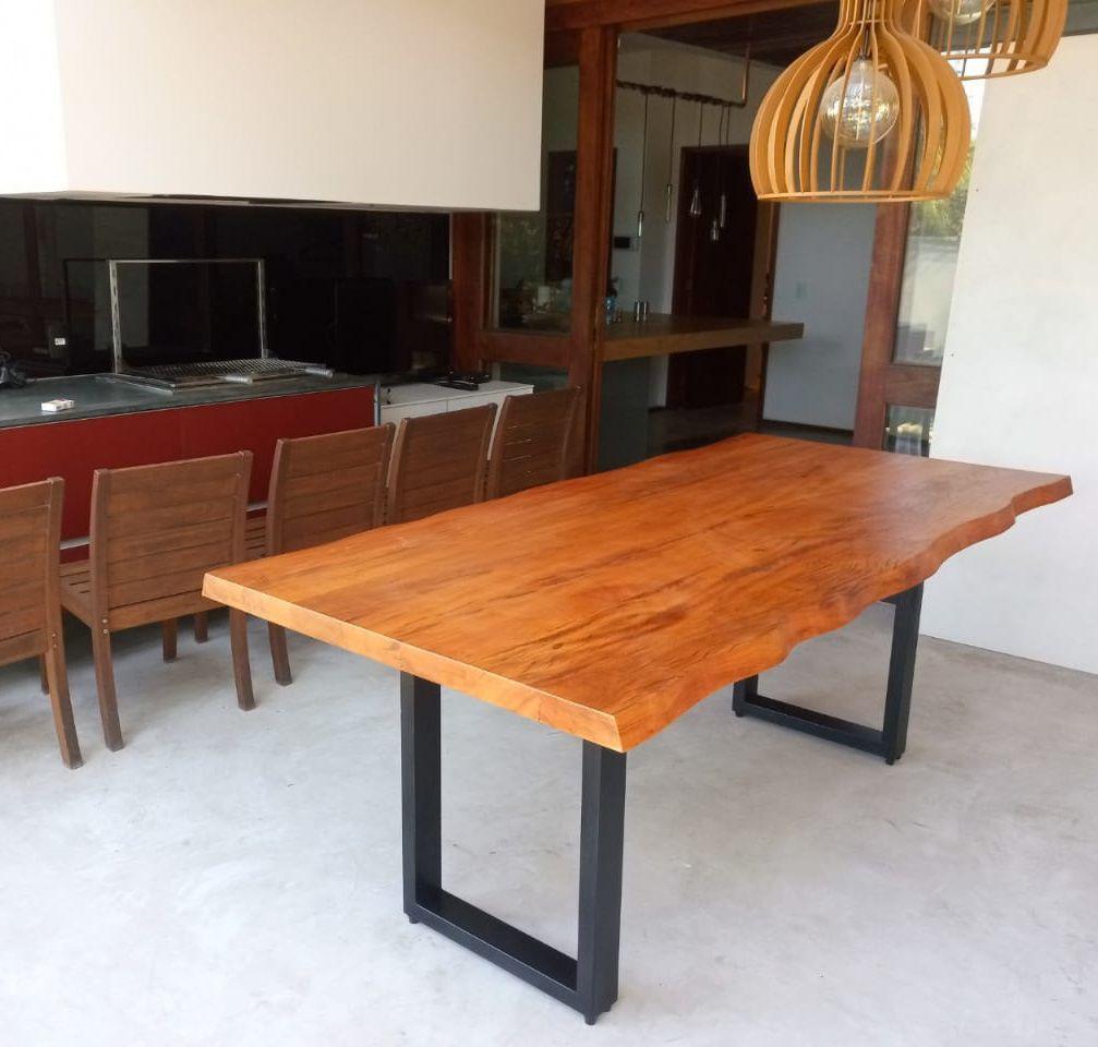 Mesa de prancha de madeira Peroba 2.00 metros  - Marcenaria De Demolição