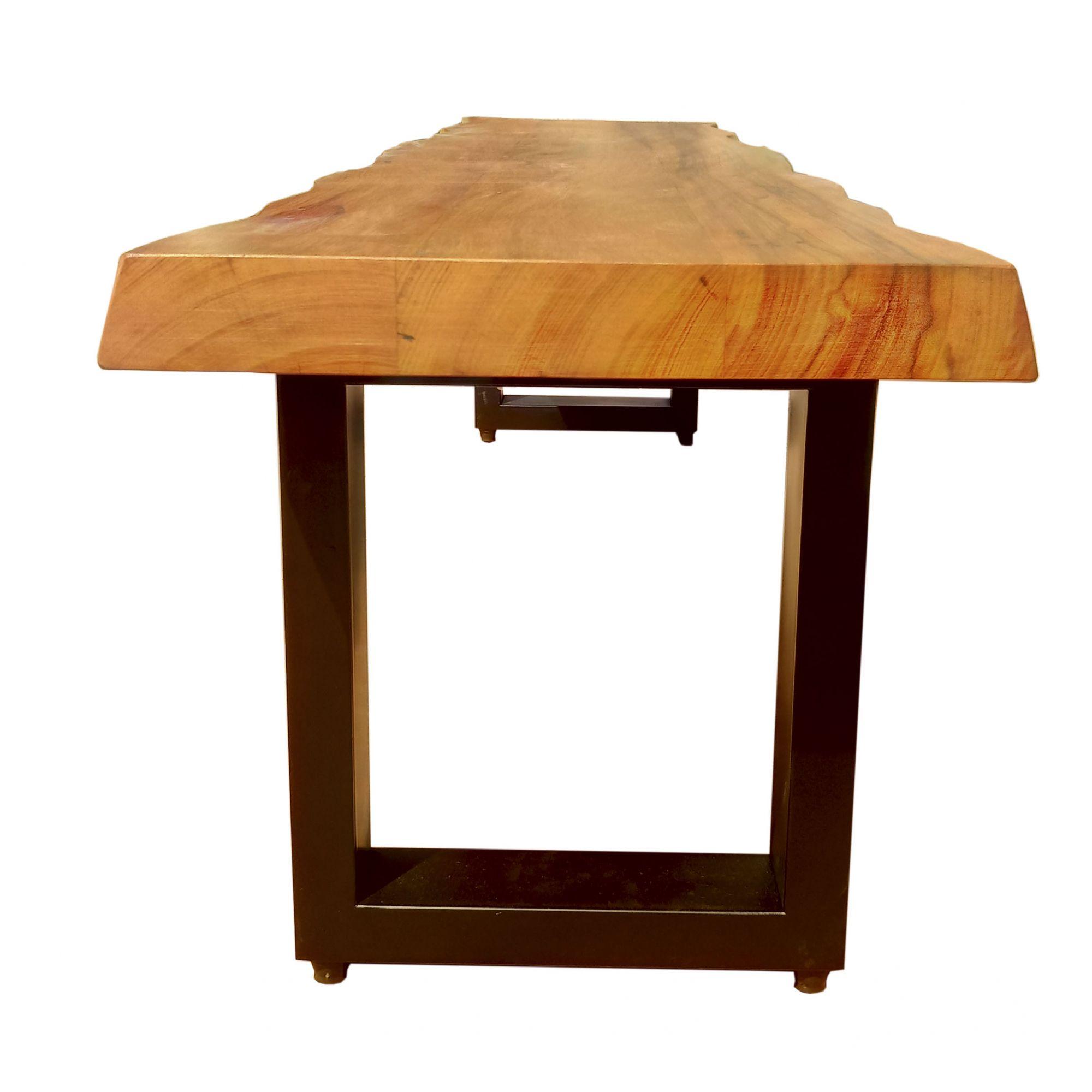 Mesa de prancha de madeira Peroba 2.20 metros  - Marcenaria De Demolição