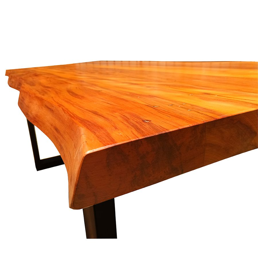 Mesa de prancha de madeira Peroba 3.00 metros  - Marcenaria De Demolição