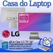All in One LG 24V570 Intel i5 7a. Geração 8GB de memória RAM e 240GB de SSD