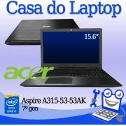 Laptop Acer A315-53AK Intel i5 de 7a. Geração 8GB de memória RAM 120GB de SSD M2 e 500GB de disco secundário