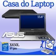 Laptop Asus X450L Intel i5 4a. Geração 4GB de memória e 640GB de disco