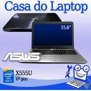 Laptop Asus X555U Intel i5 6a Geração 8GB RAM, 1TB disco e 2GB de vídeo dedicado GeForce 940M