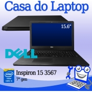 Laptop Dell Inspiron 15 3567 Intel i5 7a. Geração 8GB de memória RAM e 120GB SSD + 1TB  de disco