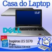 Laptop Dell Inspiron i15 5570 Intel i7 8a. Geração 8GB de memória RAM, 256GB SSD M2 NVME e 4GB de vídeo dedicado Radeon 530