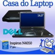 Laptop Dell N4050 Intel i3 de 2a. Geração 4GB de RAM e 500GB de disco