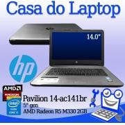 Laptop HP Pavilion 14-ac141br Intel i5 5a. Geração 8GB de memória RAM, 120GB SSD e 2GB de vídeo dedicado Radeon R5 M330