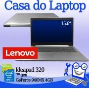 Laptop Lenovo Ideapad 320 Intel i7 de 8a. 16GB de memória RAM, 240 SSD + 2TB de disco secundário e 4GB de vídeo dedicado GeForce 940MX