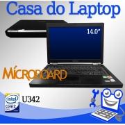 Laptop Microboard U342 Intel Core 2 Duo 4GB de memória RAM e 60GB de disco