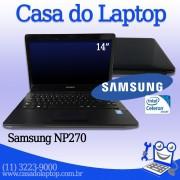 Laptop Samsung NP270E4E Intel Celeron Inside 4 GB memória e 320 GB disco