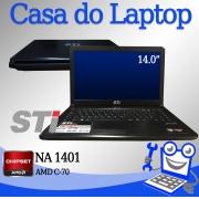 Laptop STI NA 1401 AMD C-70 4GB Memória 250GB disco rígido